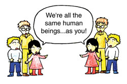 We are all the same human beings