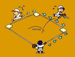 bound for home plate