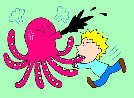 bite an octopus