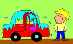 a damp car