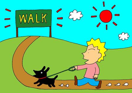take my dog to walk