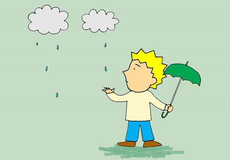 It's a little raining