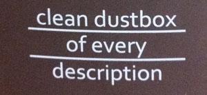 clean dust box