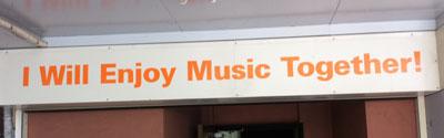 I will enjoy music together